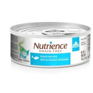 Pâté Nutrience Sans grains pour chats adultes, Poisson océanique, 156 g