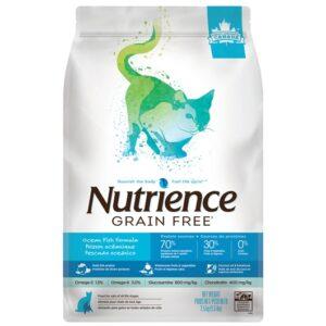 Nutrience Sans Grains au poisson océanique et saumon pour chat
