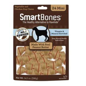 Mini os SmartBones au beurre d'arachide - Paquet de 24