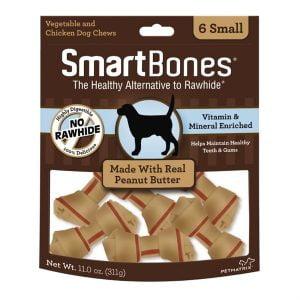 Petit os SmartBones au beurre d'arachide - Paquet de 6