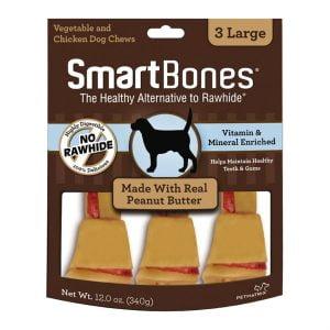 Gros Os SmartBones au beurre d'arachide - Paquet de 3