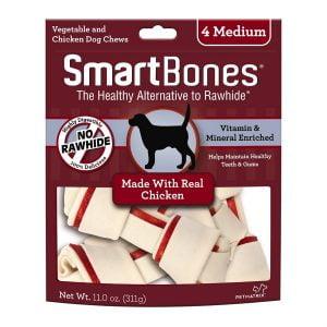 Moyen os SmartBones au poulet - Paquet de 4