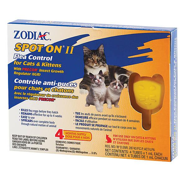 Spot On II anti-puces pour chats et chatons - avec régulateur de croissance des insectes - Zodiac