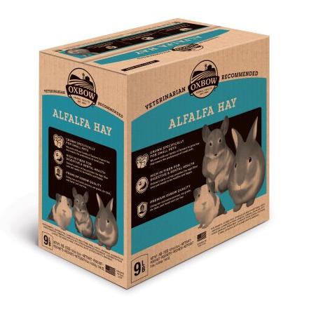 Foin de Luzerne pour rongeurs, 9lbs - Oxbow Alfafa Hay